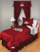 Buy Ohio State Buckeyes team bedding, Comforters, Drapes, and Sheets