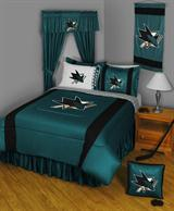 Buy San Jose Sharks team bedding, Comforters, Drapes, and Sheets