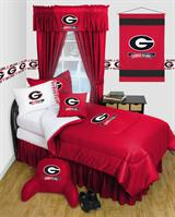 Buy Georgia Bulldogs team bedding, Comforters, Drapes, and Sheets