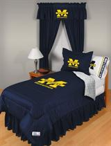 Buy Michigan Wolverines team bedding, Comforters, Drapes, and Sheets