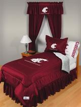 Buy Washington State Cougars team bedding, Comforters, Drapes, and Sheets