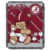 "Alabama  Crimson Tide NCAA ""Fullback"" Baby Woven Jacquard Throw"