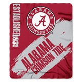 "Alabama Crimson Tide NCAA ""Painted"" Fleece Throw"