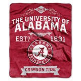 "Alabama Crimson Tide ""Label"" Raschel Throw"