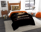 "Anaheim Ducks NHL  ""Draft""  Twin Comforter/Sham Set"