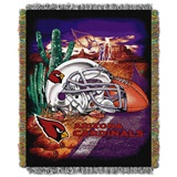 "Arizona Cardinals NFL ""Home Field Advantage"" Woven Tapestry Throw"