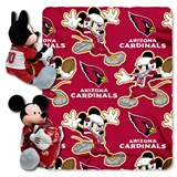 Arizona Cardinals NFL Mickey Mouse Shaped Pillow and Throw Set
