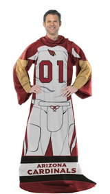 "Arizona Cardinals NFL ""Uniform"" Adult Comfy Throw"