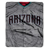 "Arizona Diamondbacks MLB ""Jersey"" Raschel Throw"
