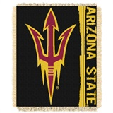 "Arizona State Sun Devils NCAA ""Double Play"" Woven Jacquard Throw"