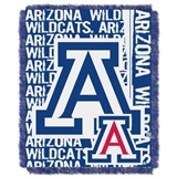 "Arizona Wildcats NCAA ""Double Play"" Woven Jacquard Throw"