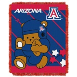 "Arizona  Wildcats NCAA ""Fullback"" Baby Woven Jacquard Throw"