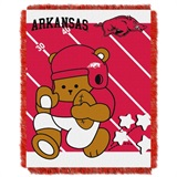 "Arkansas  Razorbacks NCAA ""Fullback"" Baby Woven Jacquard Throw"