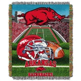 "Arkansas Razorbacks NCAA ""Home Field Advantage"" Woven Tapestry Throw"