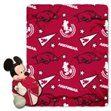 "Arkansas Razorbacks NCAA ""Mickey"" Hugger and Fleece Throw"