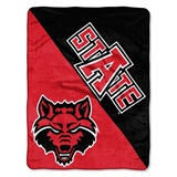 "Arkansas State Red Wolves NCAA ""Halftone"" Micro Raschel Throw"