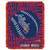 "Atlanta Braves MLB ""Double Play"" Woven Jacquard Throw"
