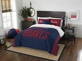 "Atlanta Braves MLB ""Grand Slam"" Full/Queen Comforter Set"