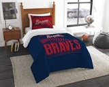 "Atlanta Braves MLB ""Grand Slam"" Twin Comforter Set"
