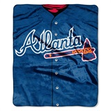 "Atlanta Braves MLB ""Jersey"" Raschel Throw"