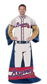 "Atlanta Braves MLB ""Uniform"" Adult Comfy Throw"
