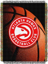 "Atlanta Hawks NBA ""Photo Real"" Woven Tapestry Throw"
