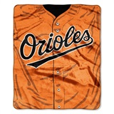 "Baltimore Orioles MLB ""Jersey"" Raschel Throw"