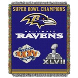 "Baltimore Ravens NFL ""Commemorative"" Woven Tapestry Throw"