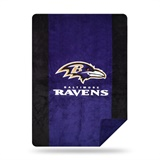 "Baltimore Ravens NFL ""Denali"" Sliver Knit Throw"