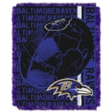 "Baltimore Ravens NFL ""Double Play"" Woven Jaquard Throw"