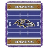 "Baltimore Ravens NFL ""Field"" Baby Woven Jacquard Throw"