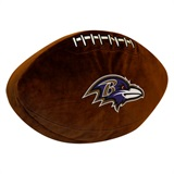 Baltimore Ravens NFL  Football Shaped 3D Plush Pillow