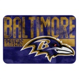 "Baltimore Ravens NFL ""Worn Out"" Bath Mat"