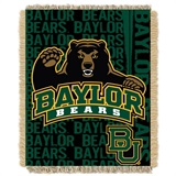 "Baylor Bears NCAA ""Double Play"" Woven Jacquard Throw"