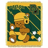 "Baylor  Bears NCAA ""Fullback"" Baby Woven Jacquard Throw"