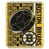 "Boston Bruins NHL ""Double Play"" Woven Jacquard Throw"