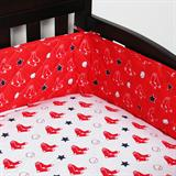 Boston Red Sox Micro Fiber Crib Bumper Standard