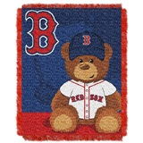 "Boston Red Sox MLB ""Field Bear"" Baby Woven Jacquard Throw"