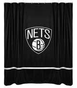 Brooklyn Nets Sidelines Shower Curtain