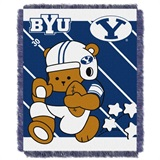 "BYU  Cougars NCAA ""Fullback"" Baby Woven Jacquard Throw"