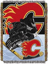 "Calgary Flames NHL ""Home Ice Advantage"" Woven Tapestry Throw"