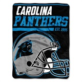 "Carolina Panthers NFL ""40 yard Dash"" Micro Raschel Throw"