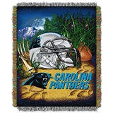 "Carolina Panthers NFL ""Home Field Advantage"" Woven Tapestry Throw"