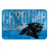 "Carolina Panthers NFL ""Worn Out"" Bath Mat"