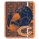 "Chicago Bears NFL ""Double Play"" Woven Jacquard Throw"