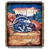 "Chicago Bears NFL ""Home Field Advantage"" Woven Tapestry Throw"