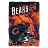 "Chicago Bears NFL ""Stagger"" Micro Raschel Throw"