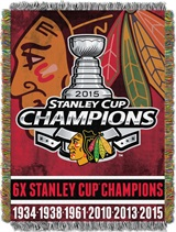 "Chicago Blackhawks NHL ""Commemorative"" Woven Tapestry"