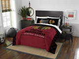 "Chicago Blackhawks NHL ""Draft"" Full/Queen Comforter Set"