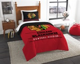 "Chicago Blackhawks NHL ""Draft"" Twin Comforter Set"